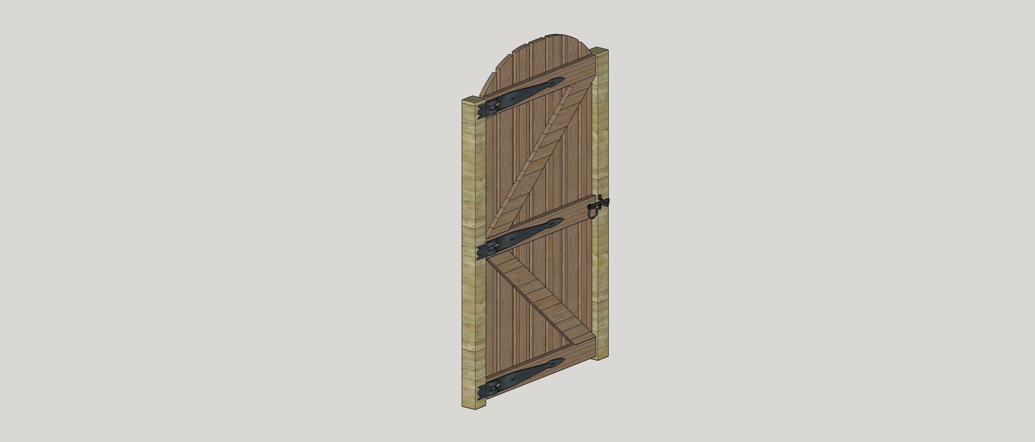 Bespoke Busby Gate Perspective 2D Graphic