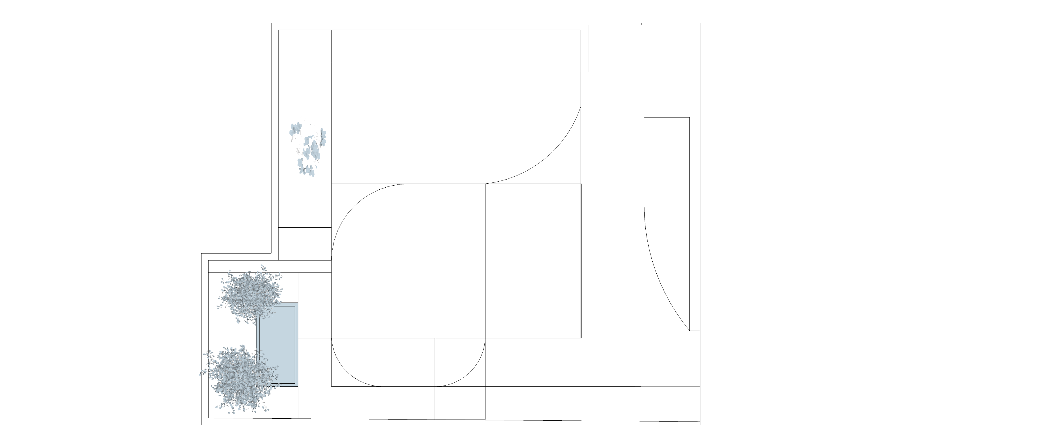 Elvaston Court no.2 Fibonacci Garden Design Draft Revsion 2 mono
