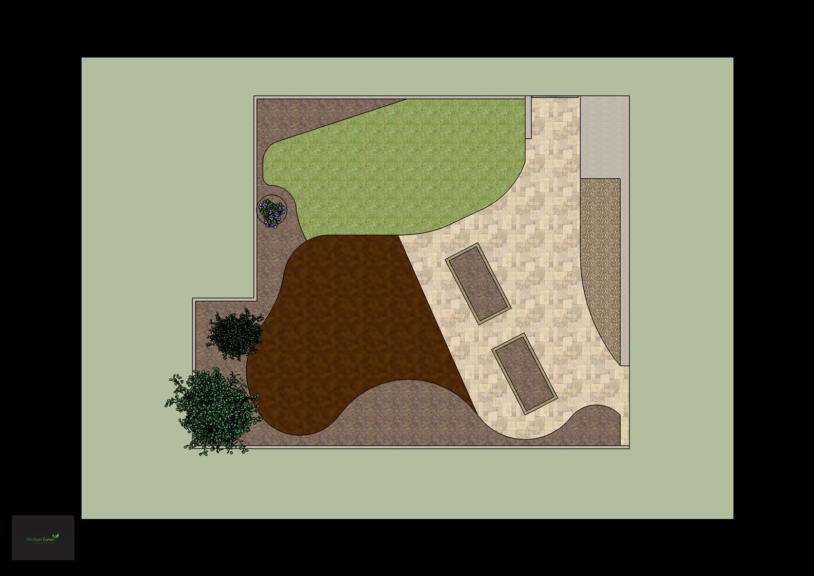 Sally Hewitt Garden Design Layout edges top view_1